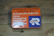 Vintage Rawlplug Rawlplastic Plugging Compound Tin EMPTY 11x8x2.5cm #1