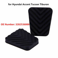 Pair Rubber Brake Clutch Pedal Pad for Hyundai Accent Tucson Tiburon 3282536000