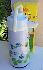 Vintage Retro Coaster 2.5 Liter Wide Mouth Pump Pot Floral In Original Box Works