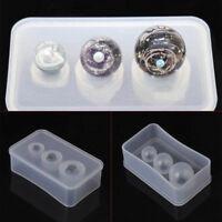 Silicone Mold Mirror Craft DIY Jewelry Making Universe Ball UV Resin Cake Decor