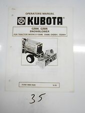 Kubota G2500 G2505 Snowblower Parts & Service Manual 7000070228