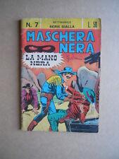 MASCHERA NERA SERIE Gialla n°7 1963 editoriale Corno  [G449] BUONO