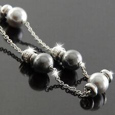 FOSSIL Halskette Damen Kette Collier NIGHT DREAM Silber Zirkonia JFS00021040 NEU