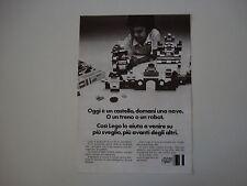 advertising Pubblicità 1971 LEGO SYSTEM