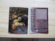1995 CONAN CHROMIUM 3RD SERIES SAVAGE SWORD #200 COVER CARD SIGNED JOE JUSKO ART