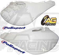Polisport Plástico Blanco Paneles Laterales Para Kawasaki KX 250 1999-2002 Motocross Nuevo