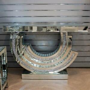 Crushed Diamond Crescent Console – 120x40x80cm