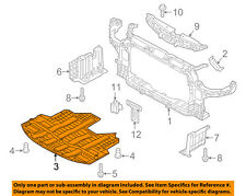KIA OEM 15-16 Forte Under Radiator/Engine-Cover Splash Shield 29110A7300