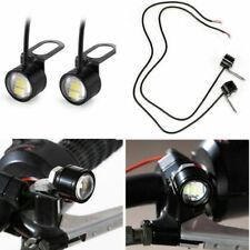 12V Motorcycle Rearview Mirror Eagle Eye 3 LED Flash Strobe Lights DRL White
