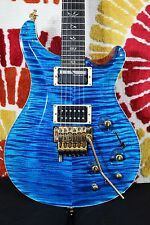 PRS Paul Reed Smith Custom 24 10 Top Pattern Thin Guitar Blue + Case