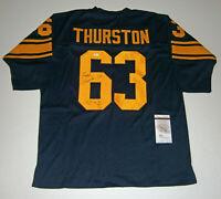 PACKERS Fuzzy Thurston signed custom navy jersey w/ SB I & II JSA COA Autograph