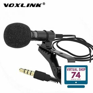 VOXLINK 3.5 mm Microphone Clip Tie Collar for Mobile Phone Speaking in Lecture 1