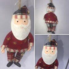 🌟Gisela Graham Father Christmas New England Tartan Xmas Tree Decoration Gift