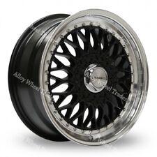 "15"" Black BSX Alloy Wheels Fits Bmw E30 Fiat Punto Evo Grande Punto 4x100"