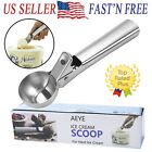NEW Easy Trigger Stainless Steel Ice Cream Scoop Cookie Dough Water Melon  Scoop