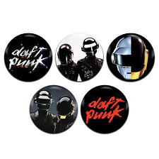 5x Daft Punk Band Electronic 25mm / 1 Inch D Pin Button Badges