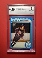 🔥1979-80 Topps Hockey #18 Wayne Gretzky RC Rookie MINT 9🔥