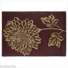 Green Brown Ava Wool Large Area Rug Mat 120 X 170 Cm Carpet Floor Covering BN