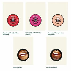 The Body Shop Born Lippy Lip Balm Gloss Pick Flavor Watermelon Strawberry++ Gift