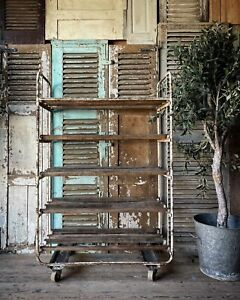 Fabulous Rustic Vintage French Bakers Rack