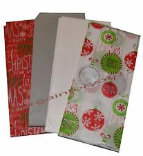 Christmas Tissue Wrapping Paper 10 sheets in pack Contemporary Tissue Gift Wrap