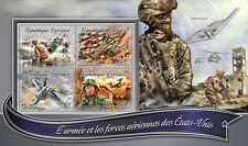 Togo 2016 MNH US Army & Air Forces 4v M/S Black Hawk Helicopters Aviation Stamps