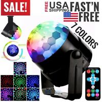 RGB Disco Party Lights Strobe LED DJ Ball Sound Activated Bulb Dance Lamp 2020