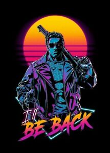 Terminator Poster 13x19 Art Print Retro 80's Movie Style High Quality B2G1 Free