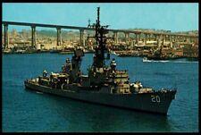 USS Goldsborough DDG-20 postcard US Navy guided missile destroyer