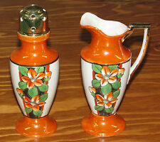 Antique Takito Company TT Japan Porcelain Lustre Salt/Pepper Shaker & Creamer