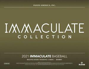 Cristian Pache 2021 IMMACULATE BASEBALL 8BOX PLAYER CASE BREAK #4