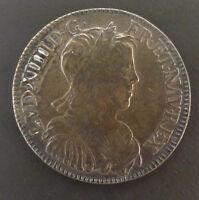 Louis XIV (1643-1715) 1/2 écu à la mèche longue 1655 A Paris