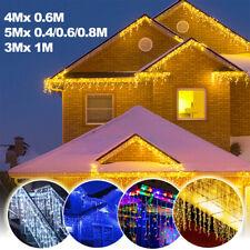 LED Lichtervorhang Lichterkette Eisregen Außen Garten Außendeko Weihnachts Licht