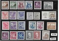 #6196   MNH stamp set / Regular postage  / WWII Germany Occupation / Third Reich