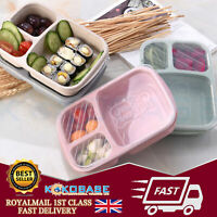 Lunch Box Food Container Bento Lunch Boxes With 3-Compartment Microwave