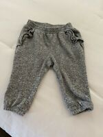 Baby Gap Girls Grey Ruffle Cotton Sweat Lounge Pants 6-12 Months