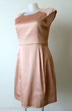 REVIEW  rrp $279.95 Size 16  US 12 Pink  Cap Sleeve Sheath Dress