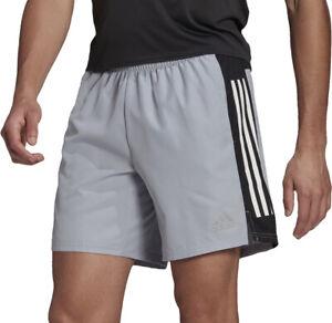 adidas Own The Run 3 Stripes 5 Inch Mens Running Shorts - Grey