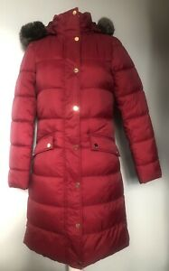 BNWT Joules Hartwell Red Wine Longline Parka Coat  -Size 8 - RRP £149