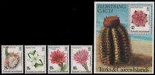 Turks- & Caicos 1981 - Mi-Nr. 527-530 & Block 29 ** - MNH - Kakteen / Cacti