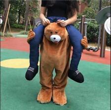 Adult Fancy Dress Carry Me Teddy Bear Mascot Costume Pants Ride On Piggy Back