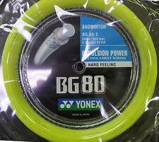 YONEX Bg80 Badminton String Reel 200m. Included