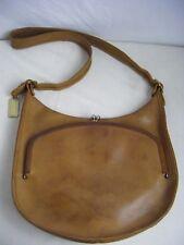 RARE COACH Vtg 60s British Tan Bonnie Cashin Leather Kiss Lock Shoulder Bag