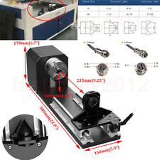 """Driver 3"""" Rotation Axis lathe Chucks Stepper Motors for Laser Engraving Cutting"""