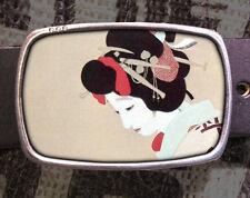 Geisha Girl Vintage Inspired Art Gift Japanese Belt Buckle