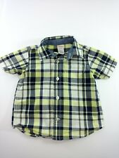 Gymboree Baby Boys Sz 12-18 Month Button Up Shirt Blue Yellow White Large Plaid