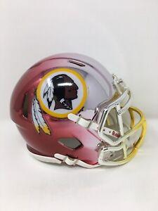 Redskins custom three tone CHROME  riddell speed mini helmet