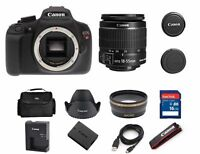 NEW Canon EOS Rebel T5 DSLR 18.0MP Camera w/ EF-S 18-55mm IS II Lens (2 LENSES)