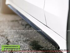 Carbon Fiber Side Skirts Add-On Spoiler For 2015+ Mercedes Benz W205 C63AMG C63