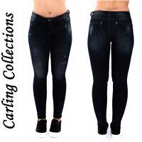 Ladies Women Distressed Faded Ripped Denim Jeans Stretch Slim Fit 6 8 10 12 14